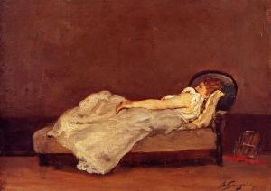 mette-asleep-on-a-sofa-1875